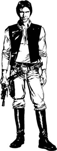 Friend han solo colouring pages for Han solo coloring page